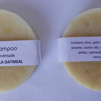 Calendula oatmeal solid shampoo bar
