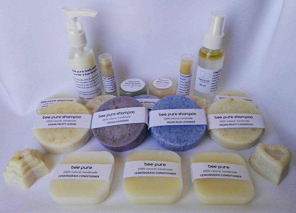 beepure natural body products - solid shampoos, solid conditioners, body lotion, lip balms, healing balms, natural insect repellent